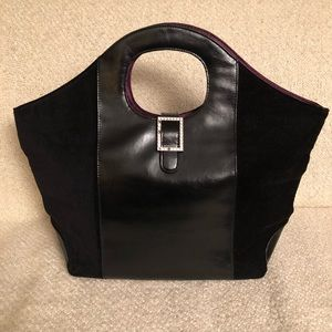 Victoria Secret Faux Leather & Suede Tote